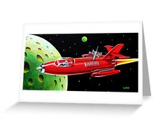 X-300 SPACE ROCKET Greeting Card