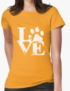 Love Paw Womens Fitted T-Shirt