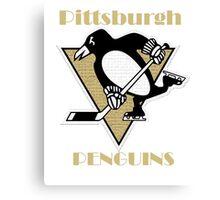 Penguins Go Yellow Penguins Canvas Print