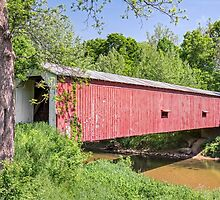 Cades Mill Covered Bridge by Kenneth Keifer