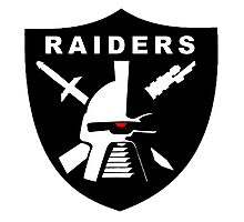Cylon Raiders Football Photographic Print