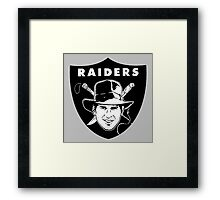 Raiders of the Lost Football Framed Print