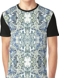 Blue and White Daisies Graphic T-Shirt