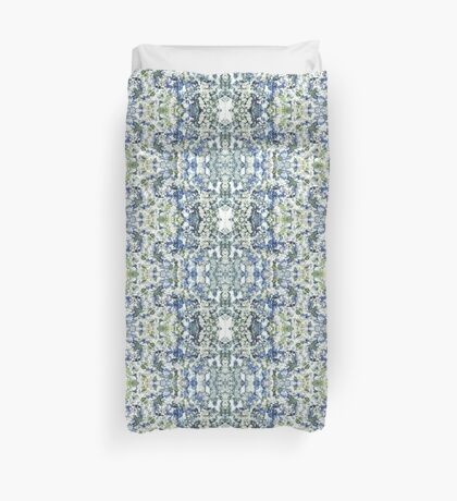 Blue and White Daisies Duvet Cover