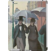 Gustave Caillebotte - Paris Street; Rainy Day 1877 , Landscape iPad Case/Skin