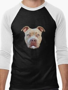 Pitbull Dog Men's Baseball ¾ T-Shirt
