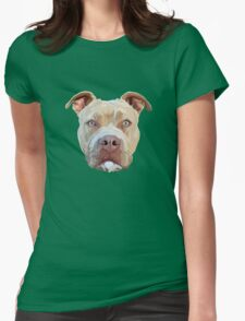 Pitbull Dog Womens Fitted T-Shirt