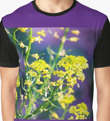 Yellow Rocket Flower Blossoms Graphic T-Shirt