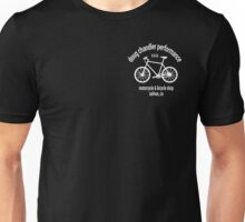 DCP Bike Shop (White) (Small & Aligned to the Right) Unisex T-Shirt