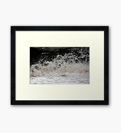 Flying froth Framed Print