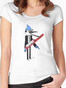 Mordecai The power Women's Fitted Scoop T-Shirt
