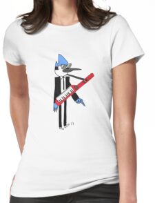 Mordecai The power Womens Fitted T-Shirt