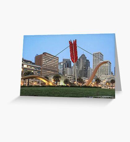Cupid's Span - Embarcadero - San Francisco Greeting Card