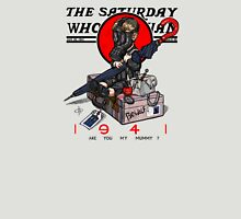 the saturday whovian post Unisex T-Shirt