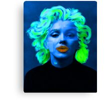Paradox of Marylin Monroe (blue) Canvas Print