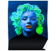 Paradox of Marylin Monroe (blue) Poster