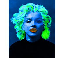 Paradox of Marylin Monroe (blue) Photographic Print