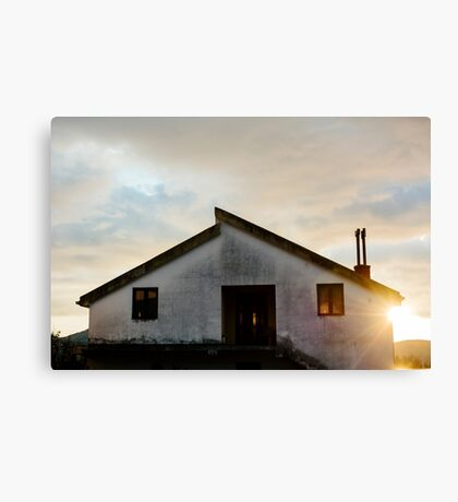 Quiet House at sunset Canvas Print