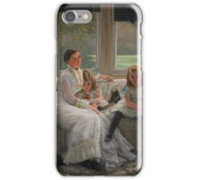 James Tissot - Portrait of Mrs Catherine Smith Gill and Two of her Children 1877 iPhone Case/Skin