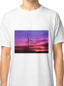 Sunset Windmill Classic T-Shirt