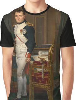 Jacques-Louis David - The Emperor Napoleon 1812 . Napoleon, Fashion Portrait Graphic T-Shirt