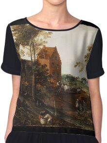 Jacob Grimmer - The Summer . Landscape  Chiffon Top
