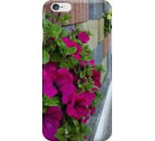 flowers on sidewalk iPhone Case/Skin