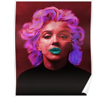 Marylin Monroe (red) Poster