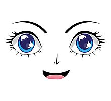 Cute Stylized Face 2 Photographic Print