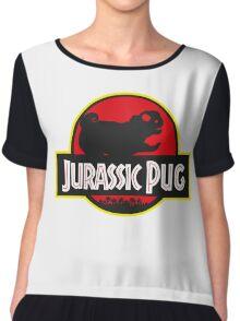 jurassic pug park style Chiffon Top