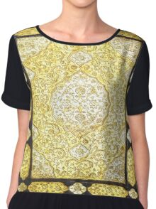 Sacred Gold Book Chiffon Top