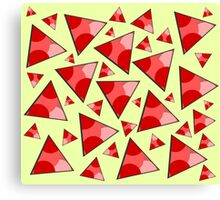 Floating triangles in red Canvas Print