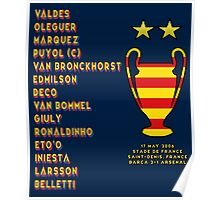 Barcelona 2006 Champions League Final Winners Poster