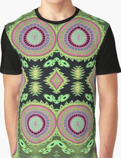 Abstract Colorful Cactus Vibes Graphic T-Shirt