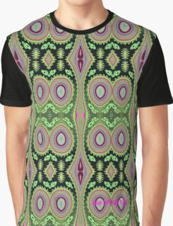 Colorful Cactus Repeat Pattern Graphic T-Shirt