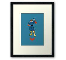 Captain Falcon Blue/Orange - Super Smash Brothers Framed Print