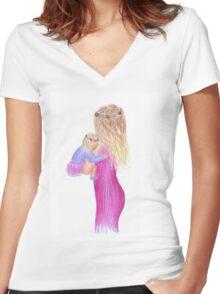 Nursery Design - Flower Crown Women's Fitted V-Neck T-Shirt