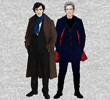 Sherlock and The Doctor Womens Fitted T-Shirt