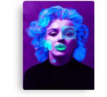 Paradox of Marylin Monroe (purple) Canvas Print