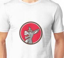 Donkey Shouting Circle Retro Unisex T-Shirt