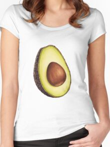 Avocado Pattern Women's Fitted Scoop T-Shirt