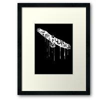 Splatter Eagle (white) Framed Print