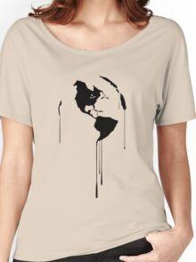 Splatter Earth 1 (black) Women's Relaxed Fit T-Shirt