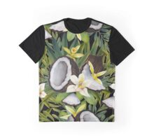 Watercolor vanilla flowers and coconut Graphic T-Shirt