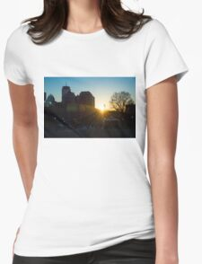 Sunset at Boston Common 2/2/16 Womens Fitted T-Shirt