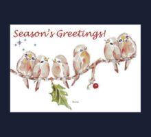 6 Little Birds - Season's Greetings! One Piece - Short Sleeve