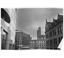 Black And White Cityscape/Buildings Poster