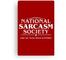 National Sarcasm Canvas Print