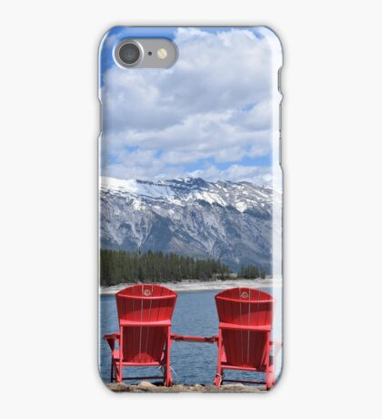 The red chairs iPhone Case/Skin
