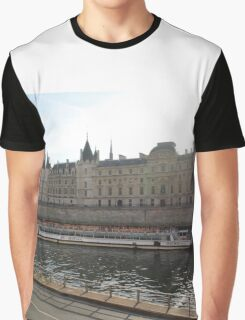 A Boat On The River Seine Graphic T-Shirt